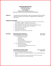 Unique Accountant Cv Objective Mailing Format