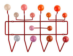 Eames Coat Rack Walnut Vitra Hang It All Brown Balls walnut by Charles Ray Eames 100 92