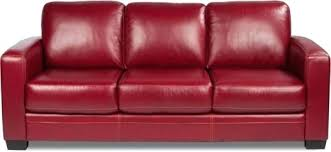 fascinated red leather sleeper sofa red