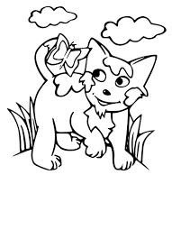 Coloriage Chat Nature Imprimer Jeux De Coloriage De Chat L