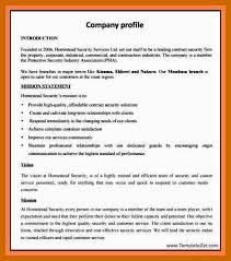 Company Profile Sample Classy 4444 Business Profile Sample Resumetablet