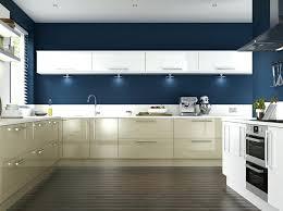 Navy Kitchen Cabinets Dark Blue Painted Kitchen With Cream Cabinets