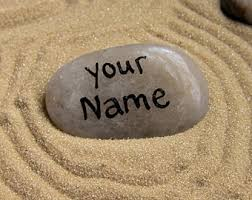 Image result for name on a rock pic
