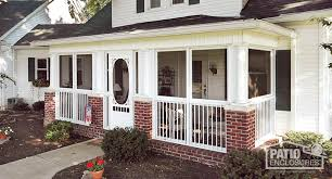 Enclosed deck ideas Decorating Screen Room Patio Enclosures How To Enclose Patio Porch Or Deck