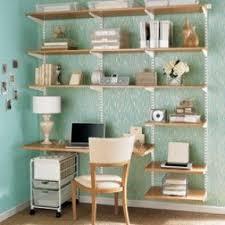 White corner desk with shelves 18