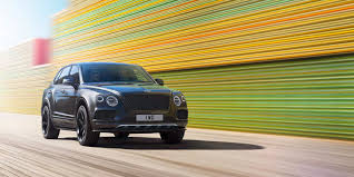 bentayga black americas with blurred colour background