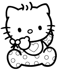 Hello Kitty Kleurplaten 1