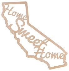 beer cap traps home sweet home california wooden wall decor sign