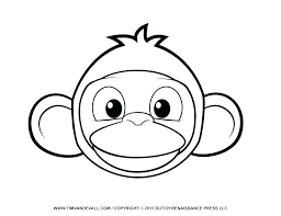 Printable Monkey Coloring Pages Drfaullcom