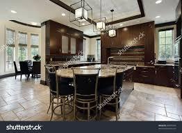 Kitchen Eating Area Modern Kitchen Large Island Circular Eating Stock Photo 66607594