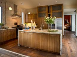 Contemporary kitchen cabinet Tall Contemporary Kitchen With Hickory Cabinets Smartsrlnet Kitchen Cabinet Material Pictures Ideas Tips From Hgtv Hgtv