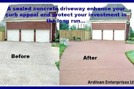 paint concrete driveway home exterior protection seal your