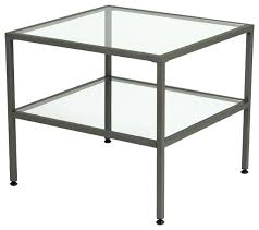 metal glass side table camber end table pewter and clear glass modern side tables and end