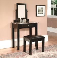 dark wood makeup vanity table narrow black granite top makeup vanity table set with drawer and