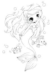 Coloring Pages Of Lovely Little Mermaid Coloring Pages With Related