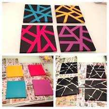 tape painting ideas easy canvas art with painters tape things to make  canvas art tape and