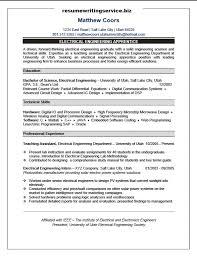 Electrical Engineering Apprentice Resume Sample