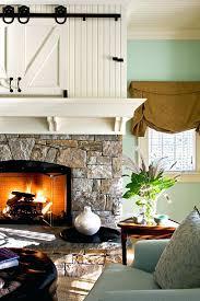 Modern Fireplace With Horizontal Slate Tile Charles Rose Houzz Fireplace