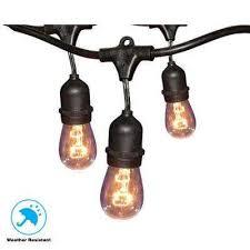 12 light 24 ft black commercial string light
