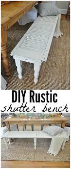 DIY Rustic Shutter Bench