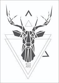deer art geometric