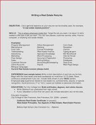 Real Estate Resume Simple Beautiful Objective Cover Letter Baskanai