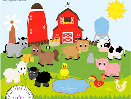 farm barn clip art. Old MacDonald, Farm Animals, Vector Clipart Image, Scrapbooking Farm, Barn, Windmill, Cows, Sheep, Duck, Rooster, Hen, Baby PNG/EPS Barn Clip Art