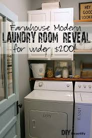 modern farmhouse laundry room makeover