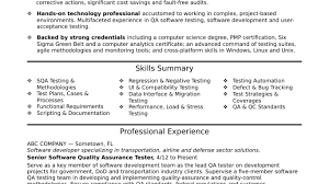 Nice Qa Resume Examples With Ideas Collection Quality Assurance ...