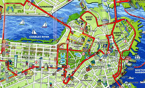 boston attractions map  emaps world