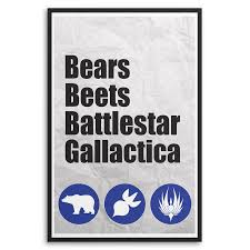 posters for the office. The Office - Bears, Beets, Battlestar Gallactica Poster-Posters -SnooozeWorks-SnooozeWorks Posters For A
