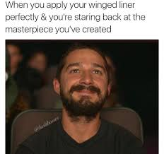when you apply your winged liner perfectly