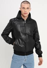 sporter leather jacket black