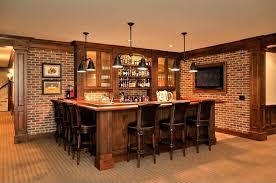 man cave lighting. craftsman man cave with builtin bookshelf pendant light interior brick wenge lighting