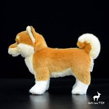 stuffed s toy akita dog doll kids gifts toys plush simulation stand dogs