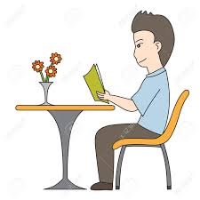 vector vector cartoon character man reading book