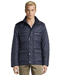 Burberry Burberry Brit Navy Diamond Quilted 'russell' Field Jacket ... & Burberry Burberry Brit Navy Diamond Quilted 'russell' Field Jacket Adamdwight.com