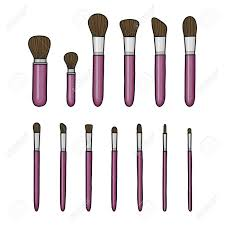 collection of diffe hand drawn makeup brushes isolated on white background stock vector 69350873