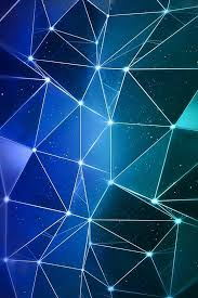 iphone 4 wallpaper color blue triangles lights parallax