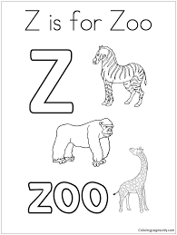 Doraemon coloring page from miscellaneous anime & manga category. Letter Z Is For Zoo Coloring Pages Alphabet Coloring Pages Free Printable Coloring Pages Online