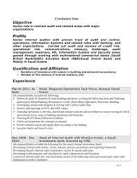 Internal Auditor Resume Objective Internal Auditor Resume Examples Hvac Cover Letter Sample Hvac 42