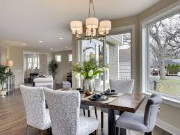 Traditional Dining Room With Hardwood Floors  Chandelier In Edina - Dining room chairs blue