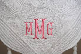gift monogrammed baby quilts