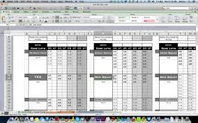 008 Weekly Class Schedule Workout Template Excel Ulyssesroom