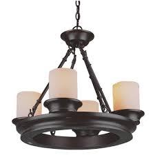 allen roth 4 light bronze chandelier