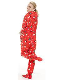 Amazon.com: Footed Pajamas - Holly Jolly Christmas Adult Hoodie ...