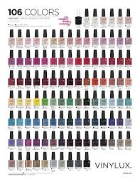 Cnd Colour Chart Vinylux Nail Polish Colour Chart Papillon Day Spa