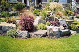 Big Garden Rocks Collection In Large Rock Landscaping Ideas Garden Design  Garden