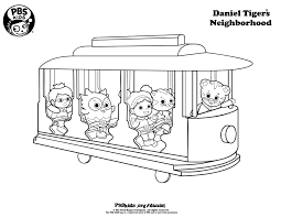 Pbs Kids Coloring Pages With Daniel Tiger At For Pbs Kids Coloring