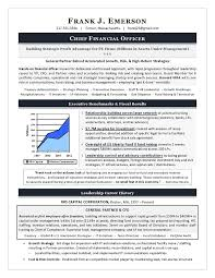 Executive Resume Samples Simple Sample CFO Resume Example Of Executive Resume Trends 60